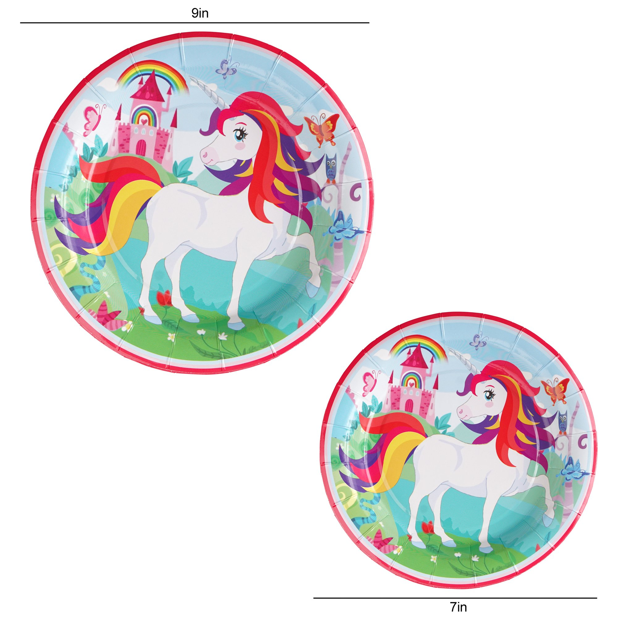 82 Piece Unicorn Party Supplies Set Including Banner, Plates, Cups, Napkins and Tablecloth, Serves 20 by Scale Rank (Image #4)