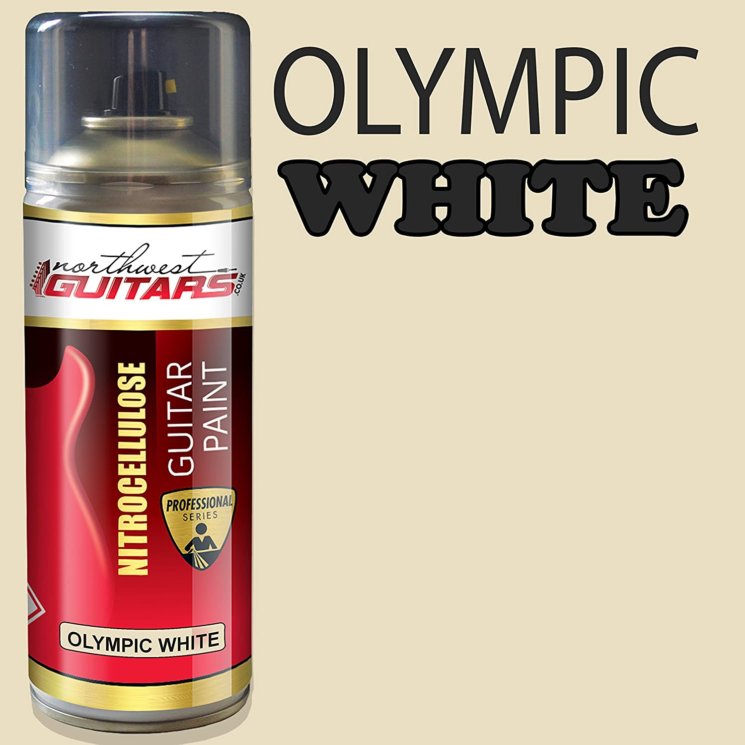 Olympic White Nitrocellulose Guitar Paint//Lacquer 400ml