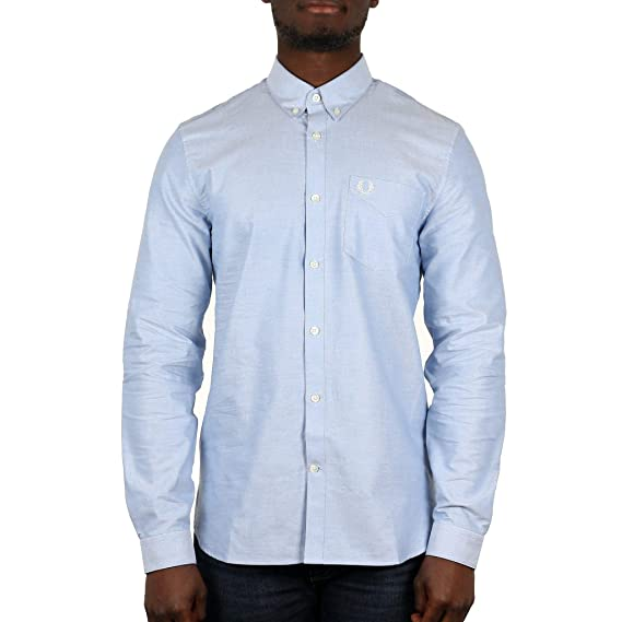 Fred Perry Hombres Camisa Oxford Classic S Light Smoke (146 ...