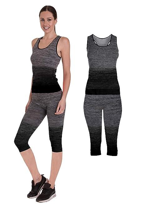 Bonjour Women S Sportswear Wear Vest And Crop Top Leggings 2 Piece Set Top Leggings Stretch Fit Yoga Gym Wear Set