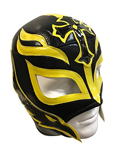 REY MYSTERIO Adult Lucha Libre Wrestling Mask (pro-fit) Costume Wear - Black