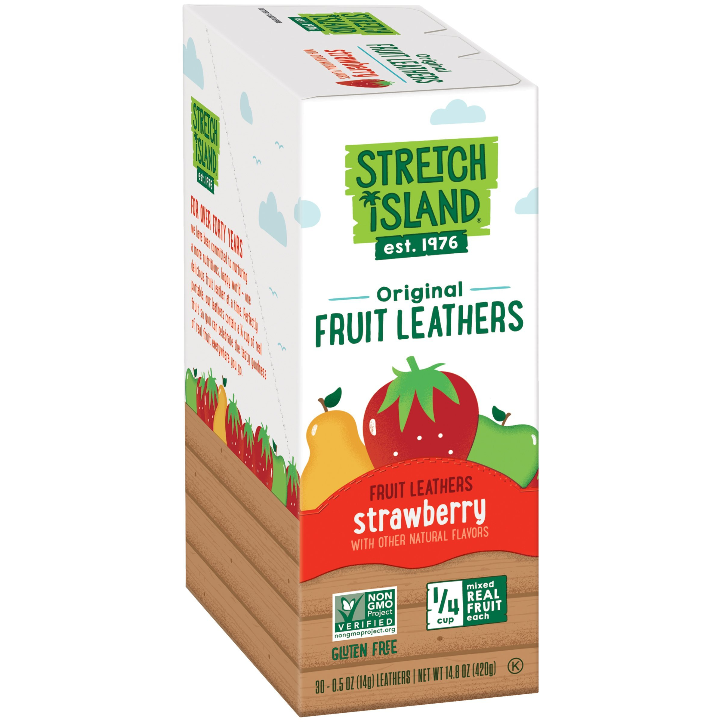 Stretch Island Original Fruit Leather Snacks, Summer Strawberry, 0.5 Ounce Strips, 30 Count