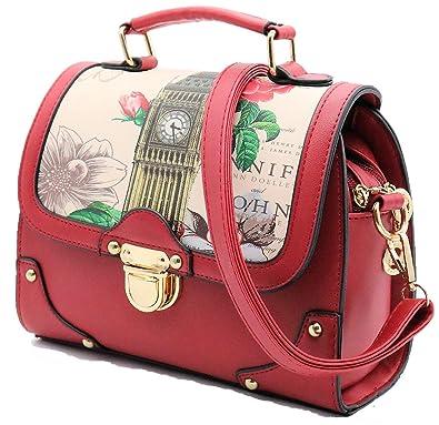 3bac5e0348 Retro Modern Handbag for Women with Shoulder Strap   Two Way Bag Purse    European British