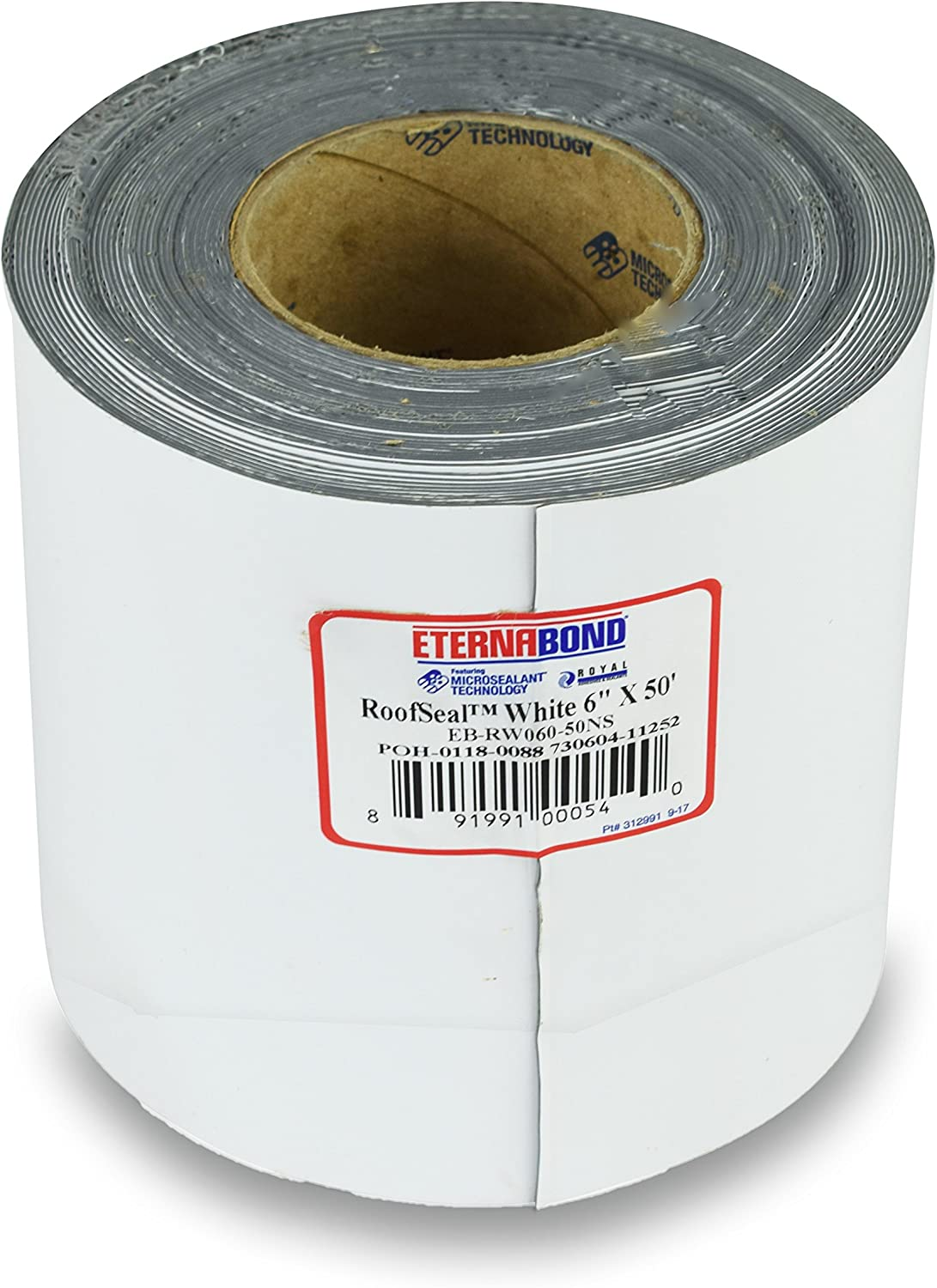 "EternaBond RV Mobile Home Roof Seal Sealant Tape & Leak Repair Tape 6"" x 50' Roll White Authentic (6''-50ft)"