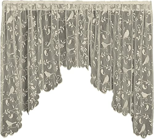 Heritage Lace Bristol Garden Swag Pair, 72 by 36-Inch, Caf