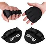 Gym Pads - The Perfect Alternative to Workout Gloves - Weight Lifting Grip Pad - Universal Size - Bodybuilding Glove With 4 Fingers - Video and eBook With 20 Exercises for Arms by Legendary Workout