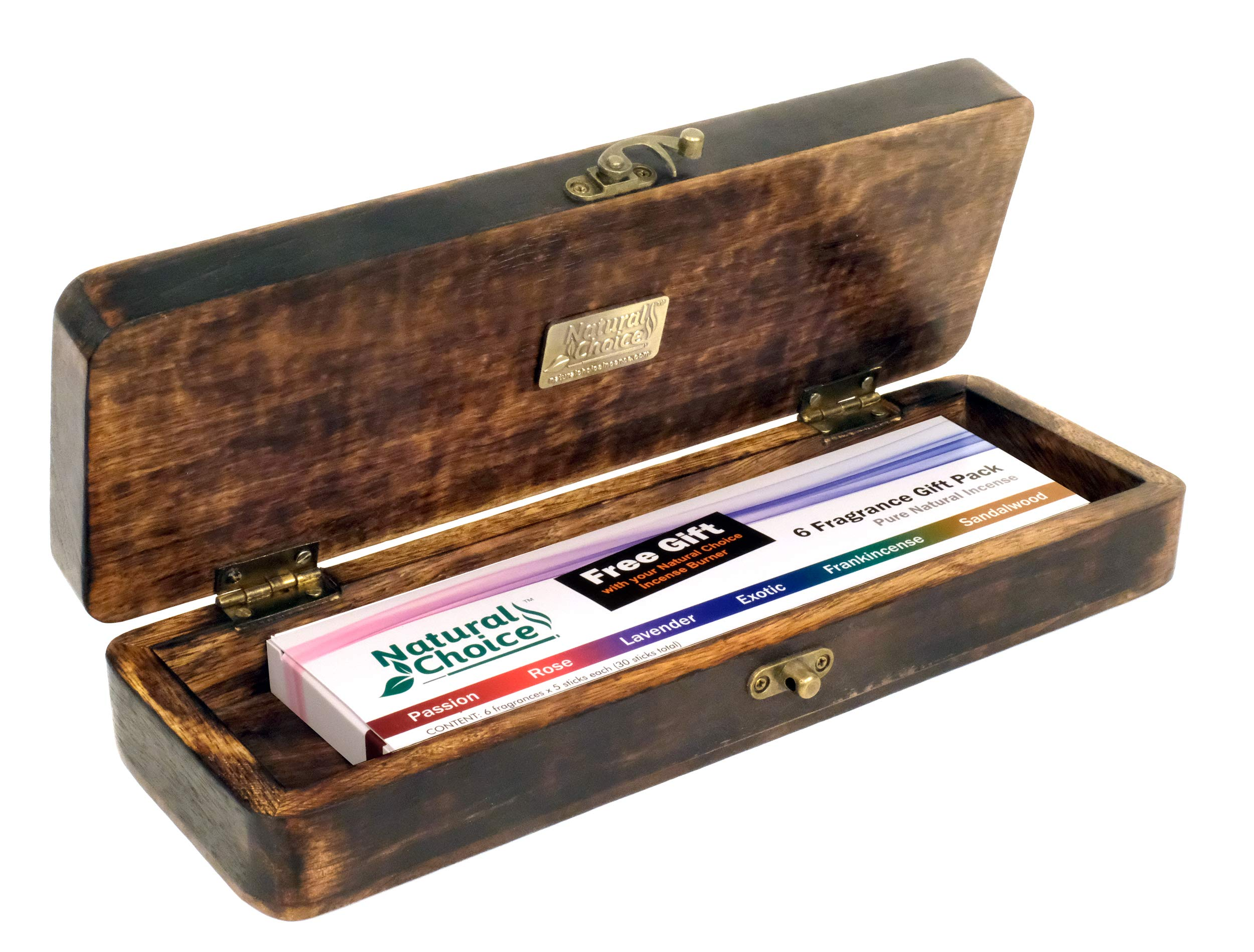 Natural Choice Incense Treasure Chest Incense Storage Box & Ash Catcher (Natural) by Natural Choice Incense (Image #9)