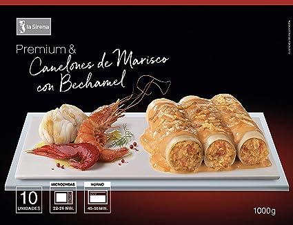 La Sirena Canelones de Marisco con Bechamel Premium, 1000g, Pack de 1: Amazon.es: Alimentación y bebidas