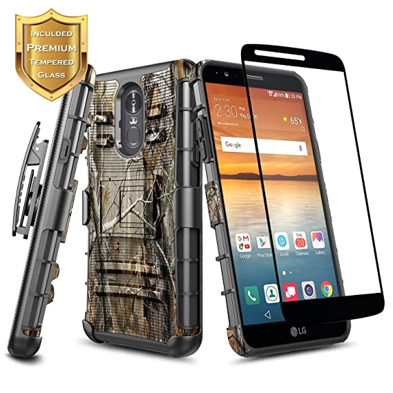 LG Stylo 4 / Stylo 4 Plus Case, NageBee Built-in Kickstand Full-Body  Shockproof Armor Belt Clip Holster Heavy Duty Rugged Durable Case with  [Full