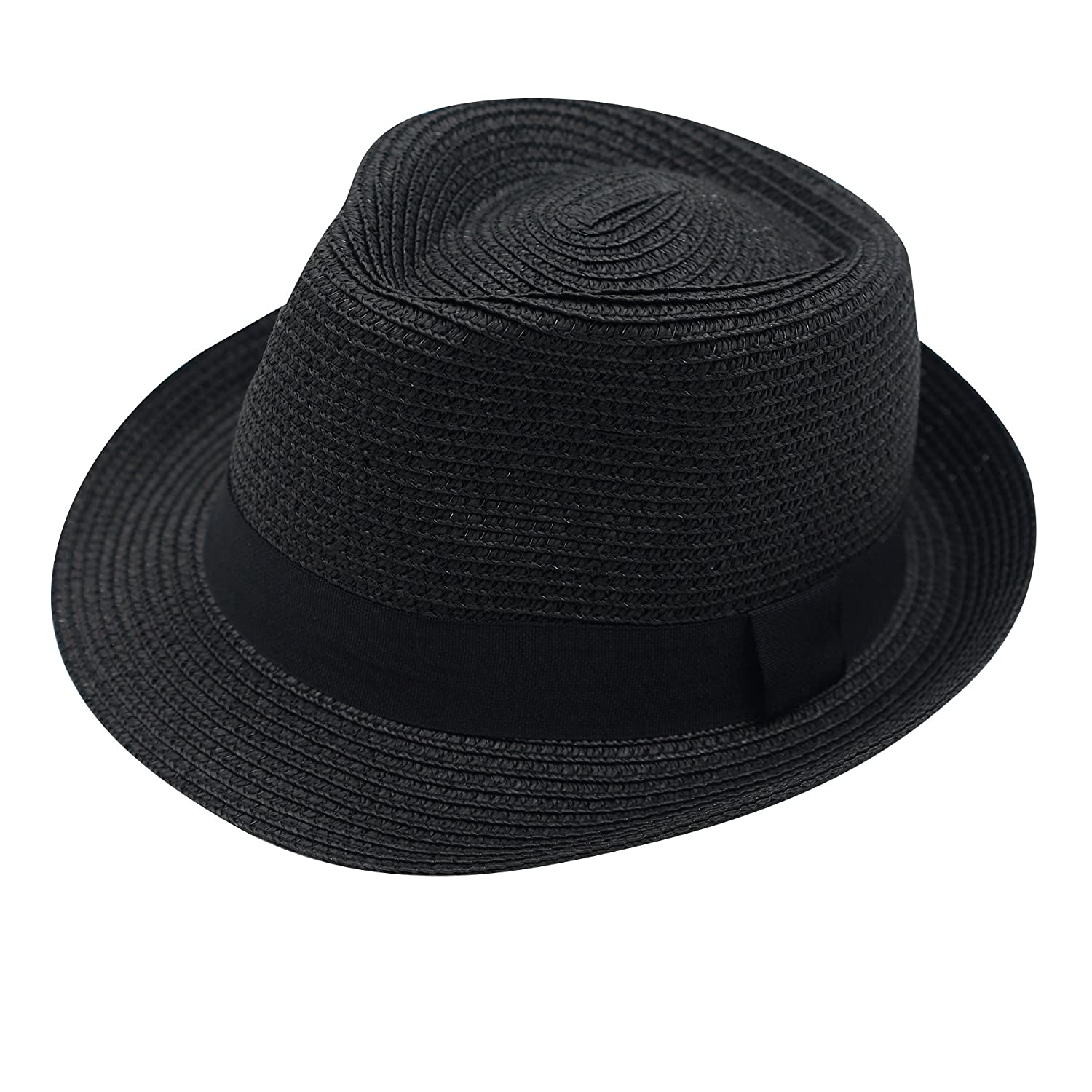 6e5bed57 Online Cheap wholesale Home Prefer Mens Straw Trilby Fedora Hat Short Brim  Panama Resort Hat Fedoras Suppliers