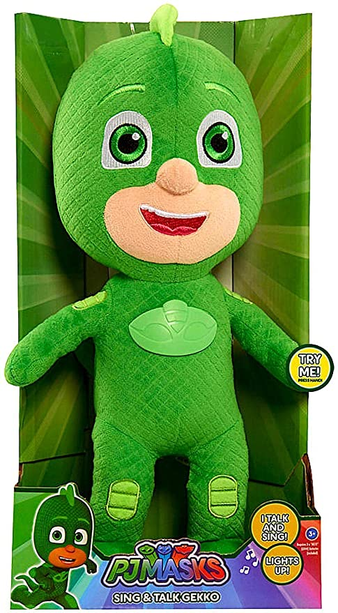 "Pj Masks Gekko Singing Talking 14"" Plush Figure &quot ..."