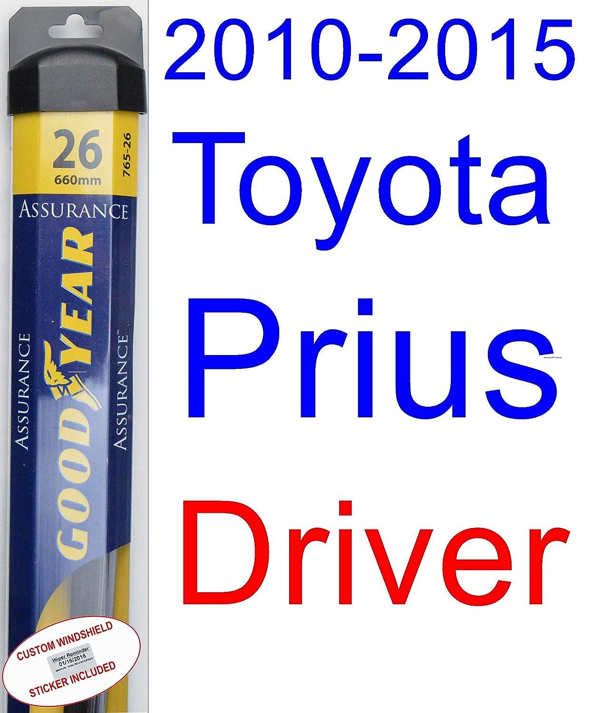 Amazon com 2010 2015 toyota prius wiper blade rear goodyear wiper blades assurance 2011 2012 2013 2014 automotive
