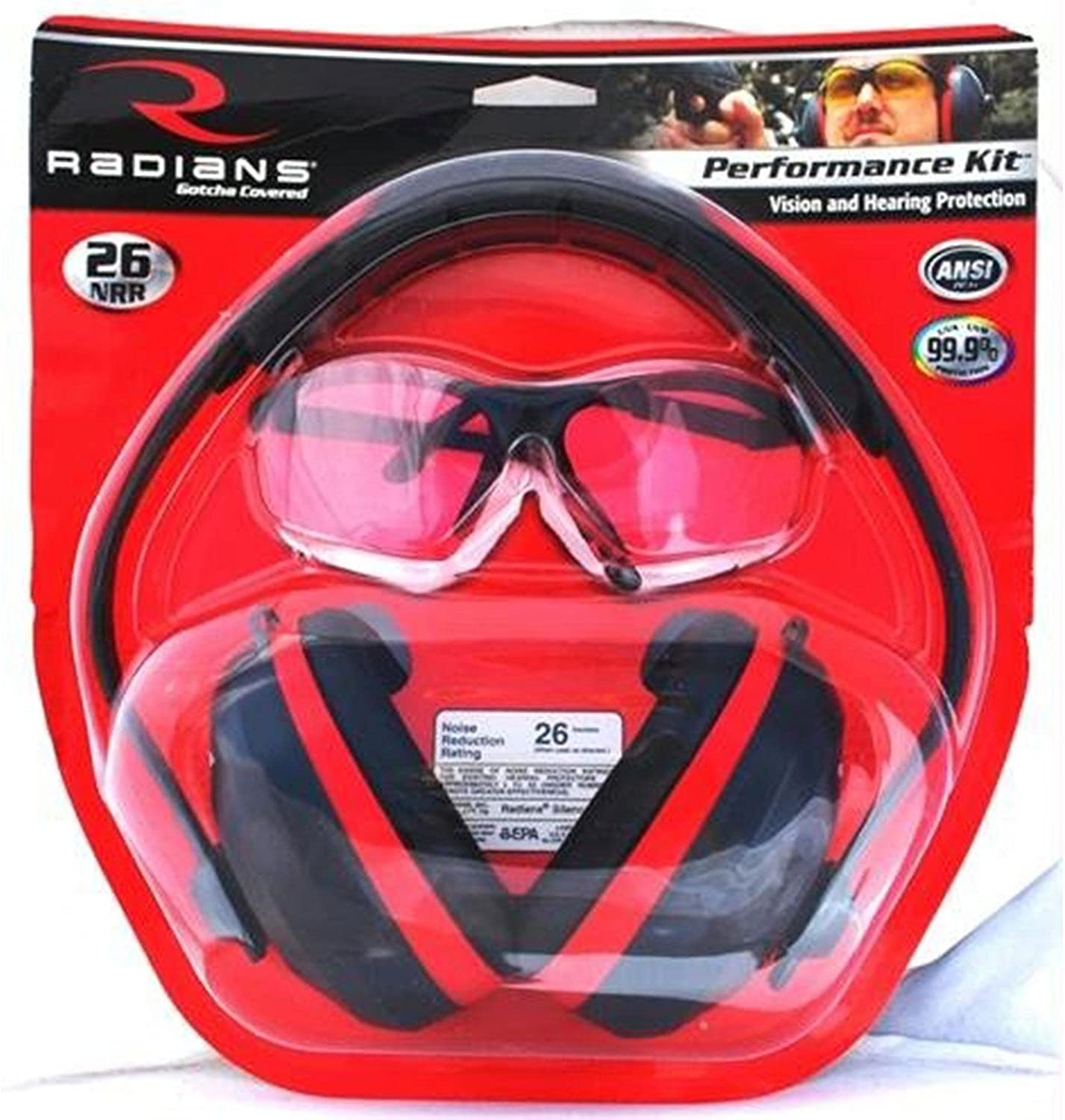 Radians Performance Kit with Silencer Ear Muff and Revelation Shooting Glasses
