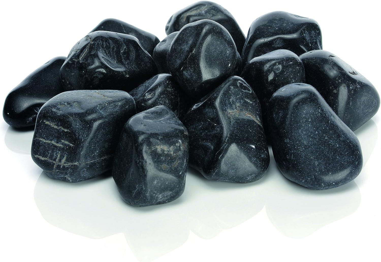 biOrb 46054 Bolsa con Piedras Decorativas de Mármol, Un tamaño, Negro