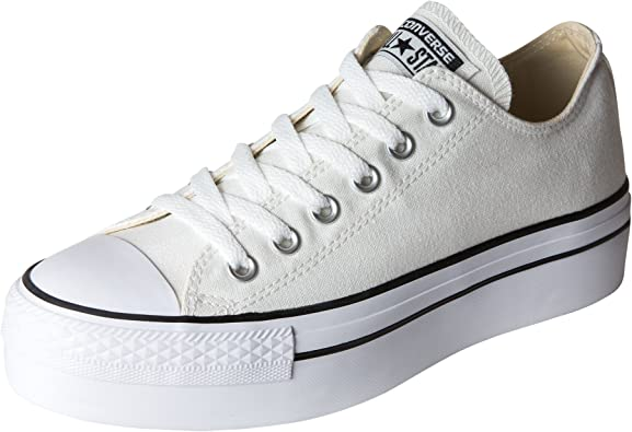 Silenciosamente catalogar Crítico  Amazon.com: Converse Chuck Taylor All Star Platform Ox Low parte superior  zapatillas, Blanco, 5 B(M) US: Shoes