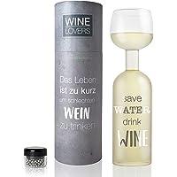 Wine Lovers Botella de Vino de Cristal