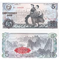North Korea 5 Won Note UNC