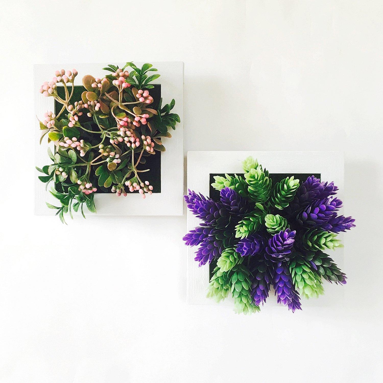 壁掛けインテリア 人工観葉植物 3D 2個セット