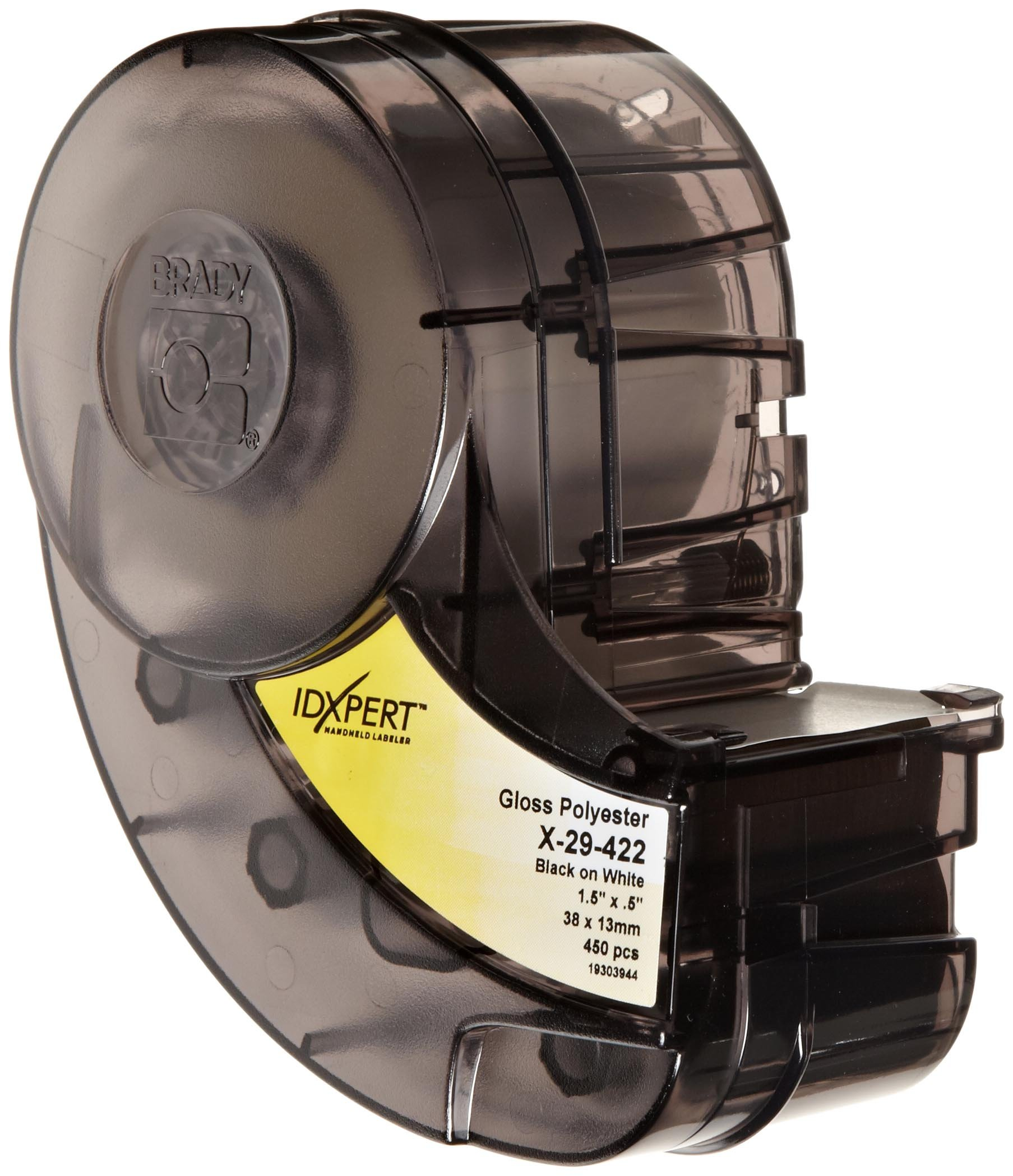 Brady X-29-422 IDXPERT 0.5'' Height, 1.5'' Width, B-422 Permanent Polyester, Black On White Color Label (450 Per Cartridge) by Brady