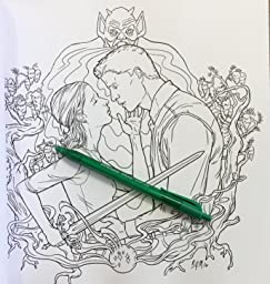 Buffy the vampire slayer adult coloring book for Buffy coloring pages