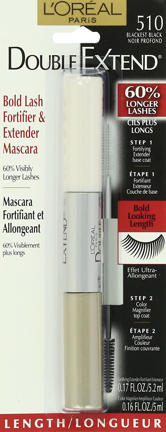 Amazon.com : LOreal Paris Double Extend Mascara, Black Brown, 0.33 Ounce : Maybelline Eyebrow Pencil Black : Beauty