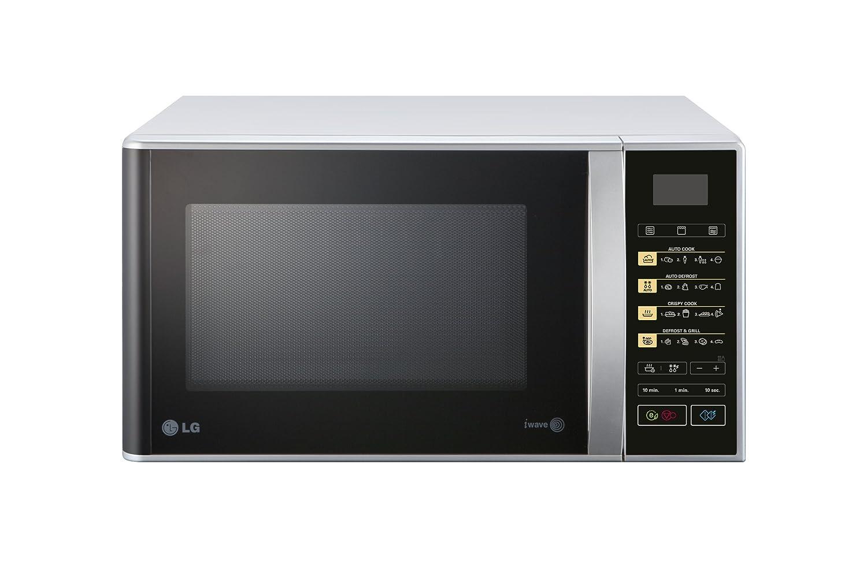 LG MH6342BPS 23L 1000W Negro, Plata - Microondas (23 L, 1000 W, Tocar, Negro, Plata, 800 W, Apertura por empuje)