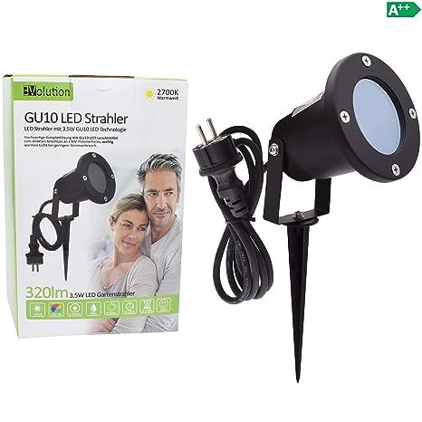 Gartenstrahler mit Erdspieß IP65 Schwarz GU10 230V AC Aussenstrahler mit Spiess