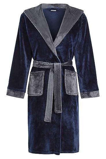 Slumber Hut Garçons Robe De Chambre Peignoir à Capuche Les Enfants Velours Doux Polaire Bleu Marine Noir 7 à 13 Ans