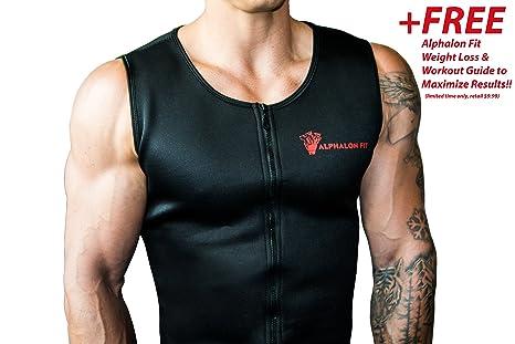 8aeece5a83 Amazon.com    90% Neoprene  Men s Premium Waist Trainer Vest