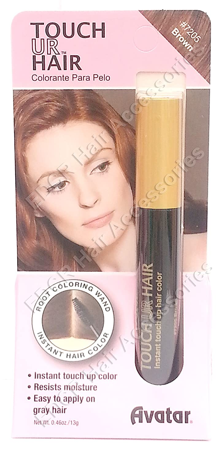 Avatar Touch Ur Hair Color Root Coloring Wand For Gray Hair (Ready To Use, No Water Needed) No 7205 Brown USA