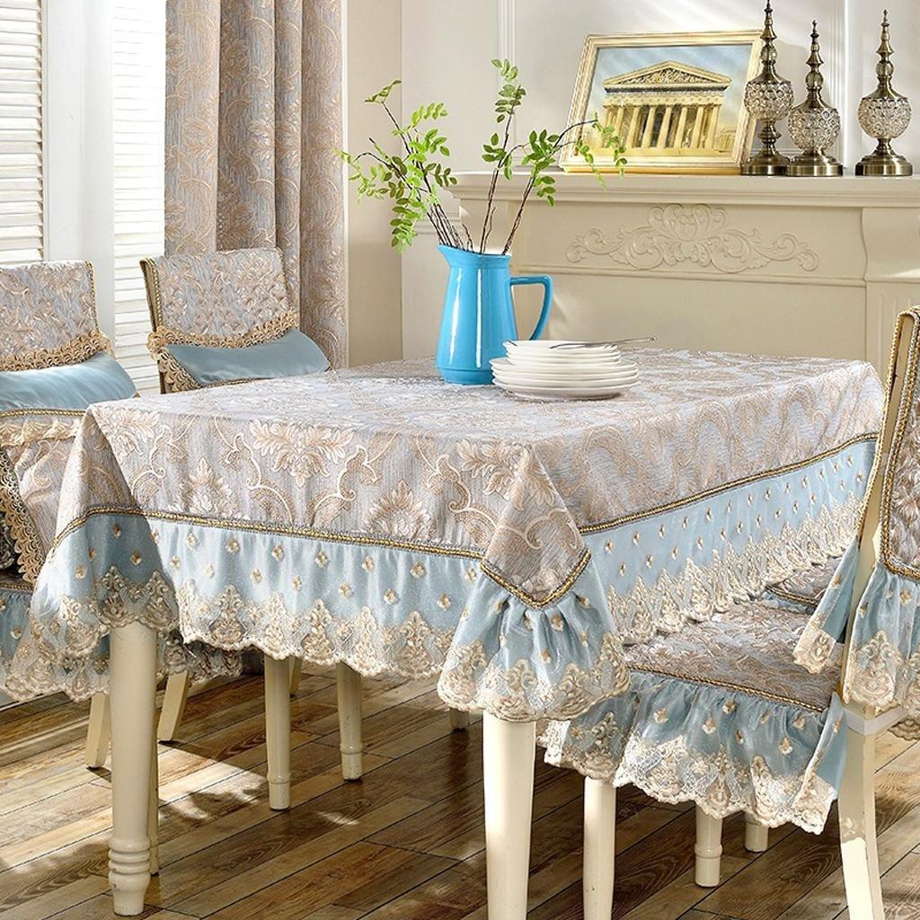 Estilo europeo sala de encaje cuadrado mesa de comedor de tela de tela conjunto de tela conjunto de tela hogar de algodón tabla de café de papel tapiz rectángulo , a , 140200cm