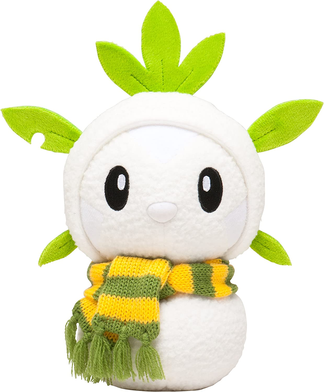 Chespin//Harimaron snowman sweets picnic Pokemon center Pikachu Christmas 2014 Plush Doll