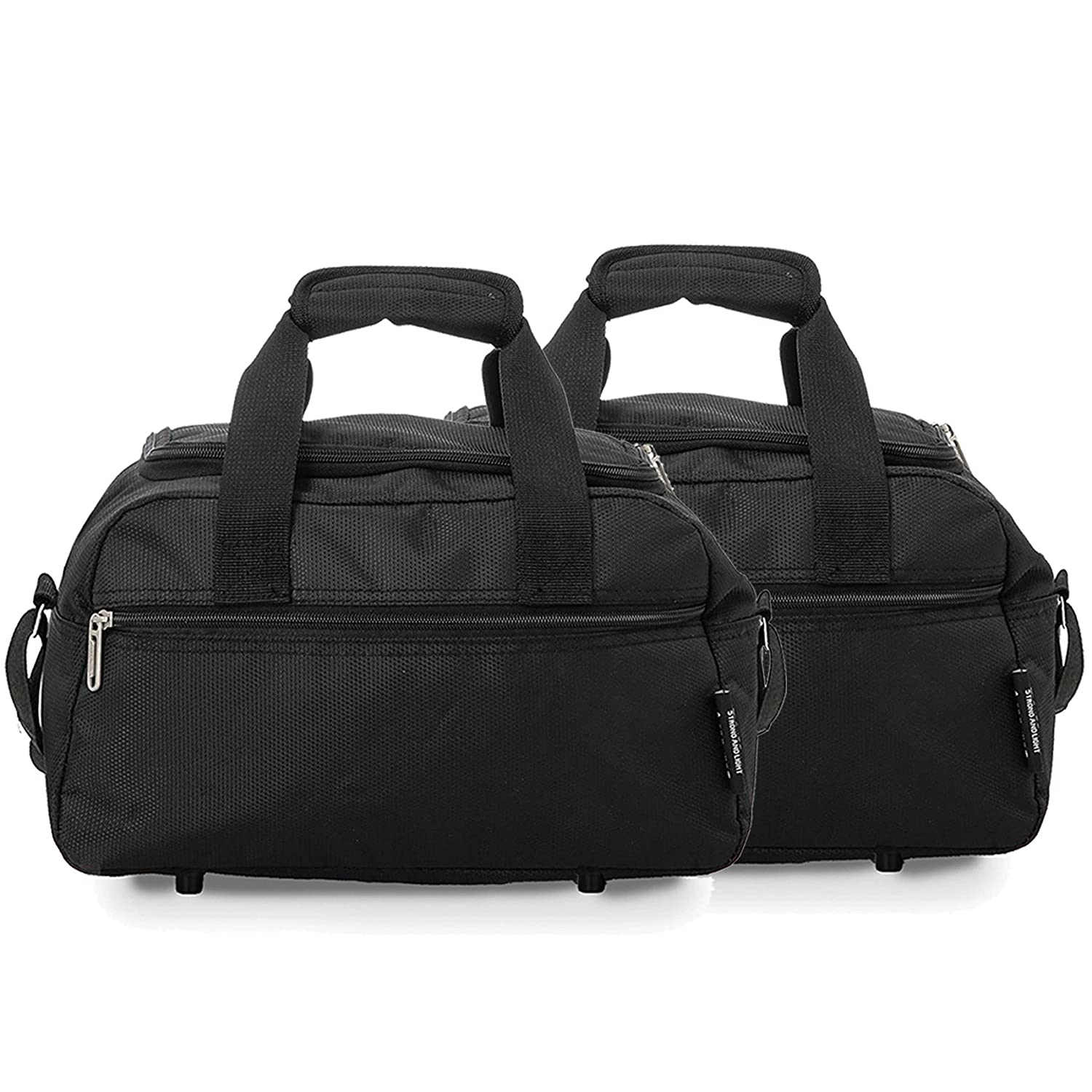 Aerolite 35x20x20cm Maximum Ryanair Second Additonal Hand Luggage Cabin  Holdall Bag - Carry on for Free with Ryanair! (2 x Black)  Amazon.co.uk   Luggage 4ee9b149cb