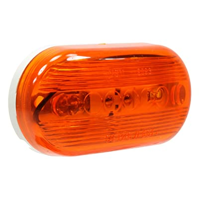 "Vehicle Safety Manufacturing 1259A Amber 4"" Oval Catseye Clearance Marker Light (Amber Lens): Automotive"