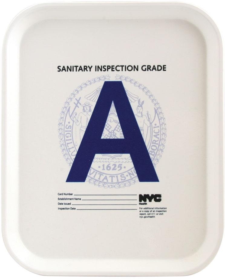 """Health Grade """"A"""" Tray"""