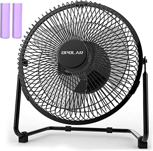 OPOLAR Battery Operated Rechargeable Desk Fan for Home Camping Hurricane