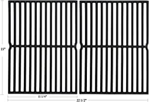 Hisencn 15 inch Cooking Grates for Weber Spirit 200 Series, Spirit E/S 200 & 210 with Side Control Panel, Spirit 500, Genesis Silver A, Cast Iron Grill Grid for Weber 7522, 7523 7521 65904 65905