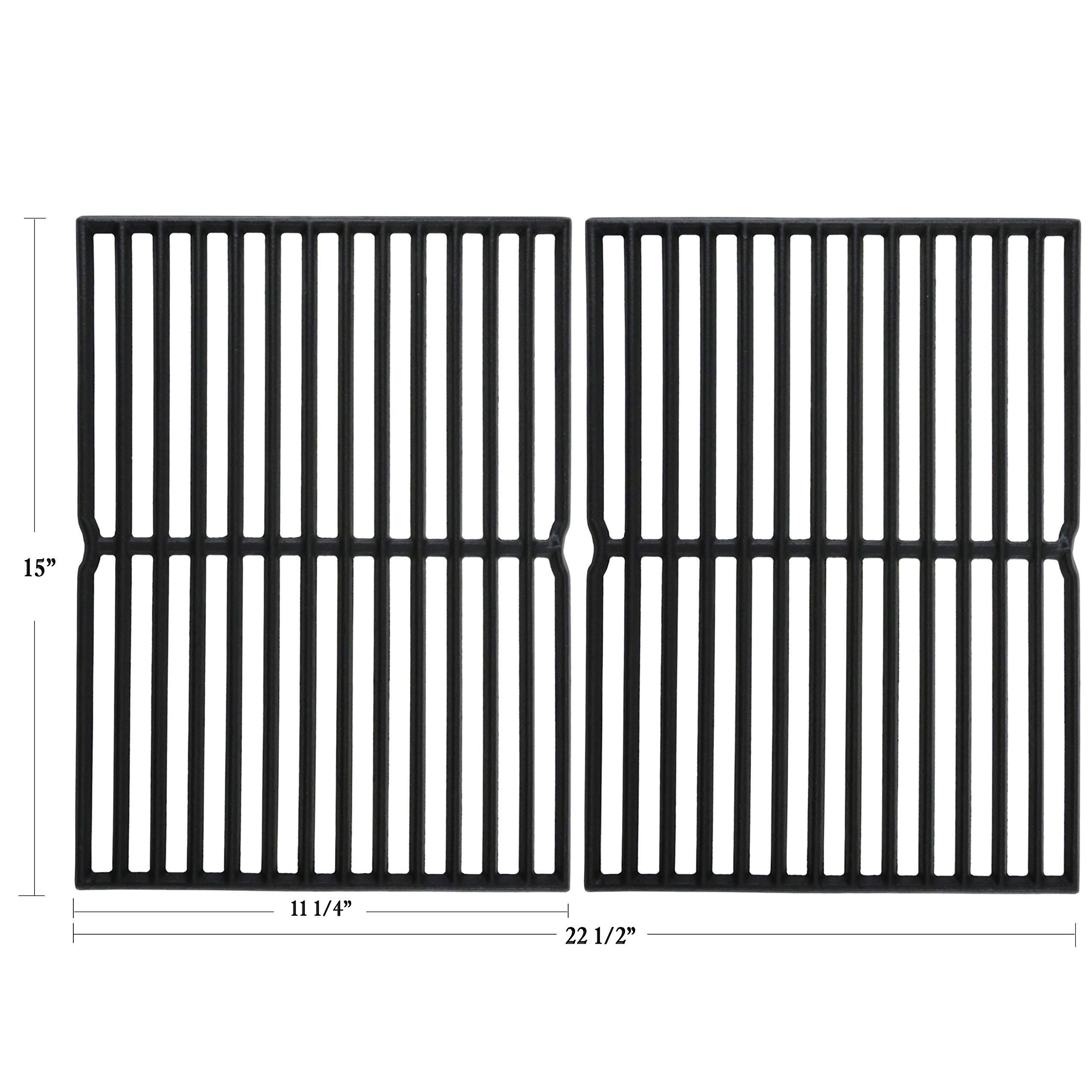 Hisencn Matte Cast Iron Grill Cooking Grids Grates Replacement Parts for Weber Spirit 200 Series, Spirit 500, Genesis Silver A, for Weber 7522, 2271001, 3711001, 4411001, 6711001 Grills, 15 inch