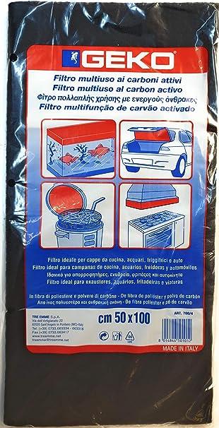 Filtro para campanas extractoras de carbón activo, de fibra de poliéster y polvo de carbón.: Amazon.es: Bricolaje y herramientas