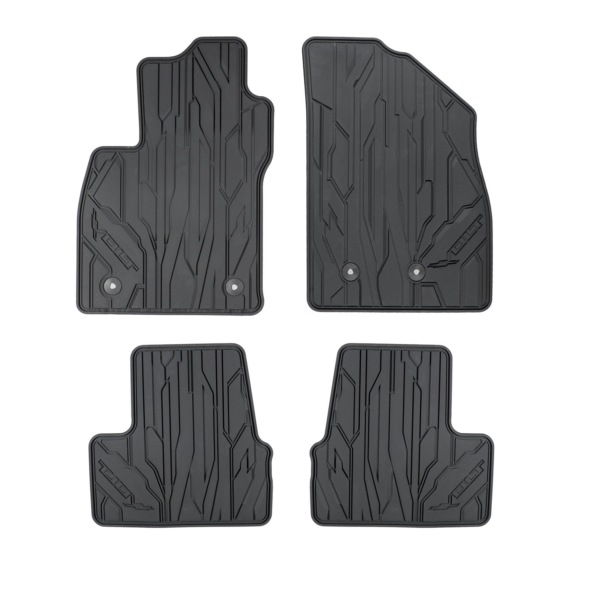 GMC OEM NEW Front & Rear All Weather Rubber Floor Mats w/Logo 16-18 Volt 23201124