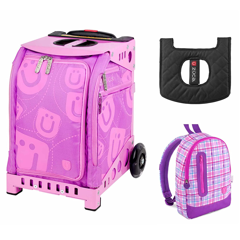 Zuca Kids \'Mini Smile Tasche/Pink Rahmen + Rucksack und Sitzkissen ...
