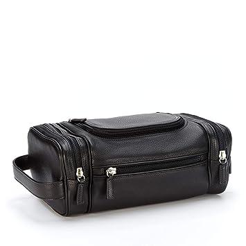 ba3ea21114 Amazon.com   Multi Pocket Toiletry Bag - Full Grain Leather - Black Onyx ( black)   Toiletry Bags   Beauty