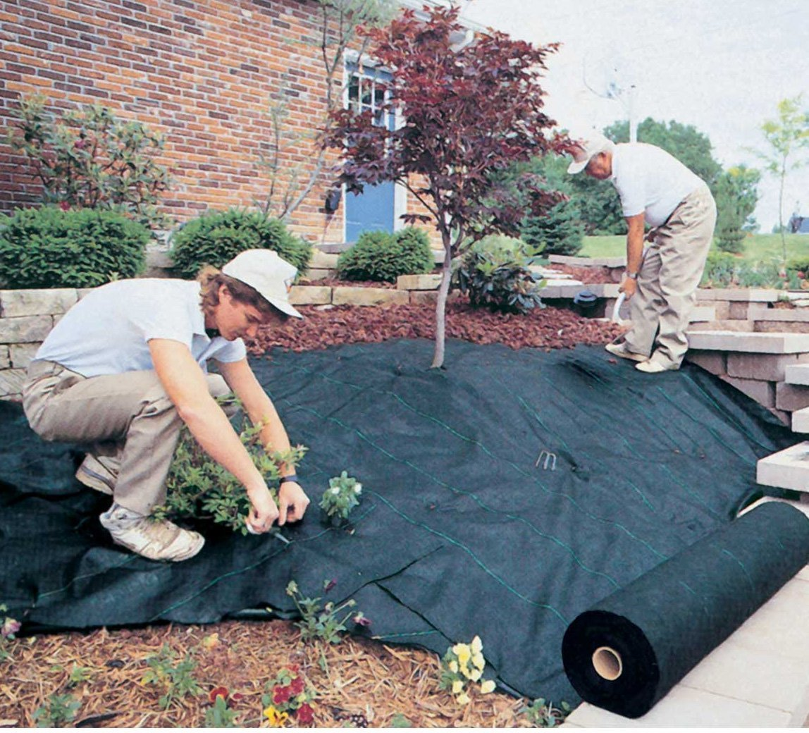 Synturfmats Weed Control Fabric - Heavy Duty Weed Barrier Landscape Fabric Membrane Ground Cover, UV Resistant (6.5'x328')