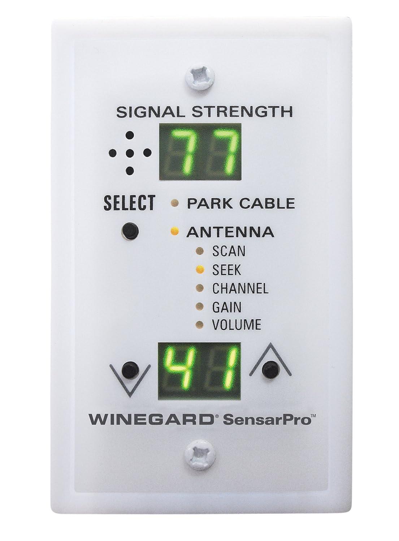Winegard rfl-342 sensarpro Blanco Medidor de Intensidad de la señal de TV: Amazon.es: Coche y moto