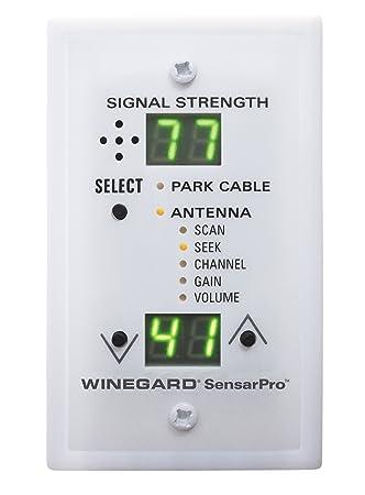 Winegard rfl-342 sensarpro Blanco Medidor de Intensidad de la señal de TV