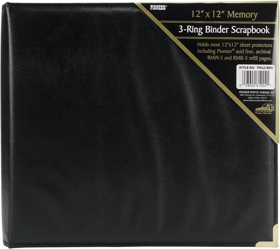 Pioneer 12 Inch by 12 Inch 3-Ring Sewn Oxford Scrapbook Binder Burgundy