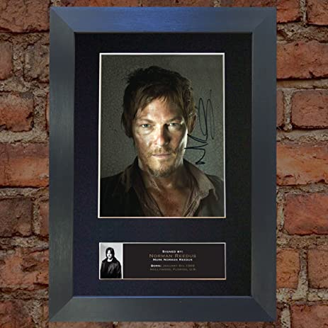 Amazon Norman Reedus The Walking Dead Signed Autograph Mounted