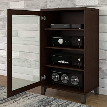 Superbe Bush Furniture Somerset Media Cabinet In Mocha Cherry