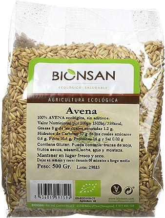 Bionsan Avena Sativa en Grano Ecológica - 6 Bolsas de 500 gr - Total: 3000 gr: Amazon.es: Alimentación y bebidas