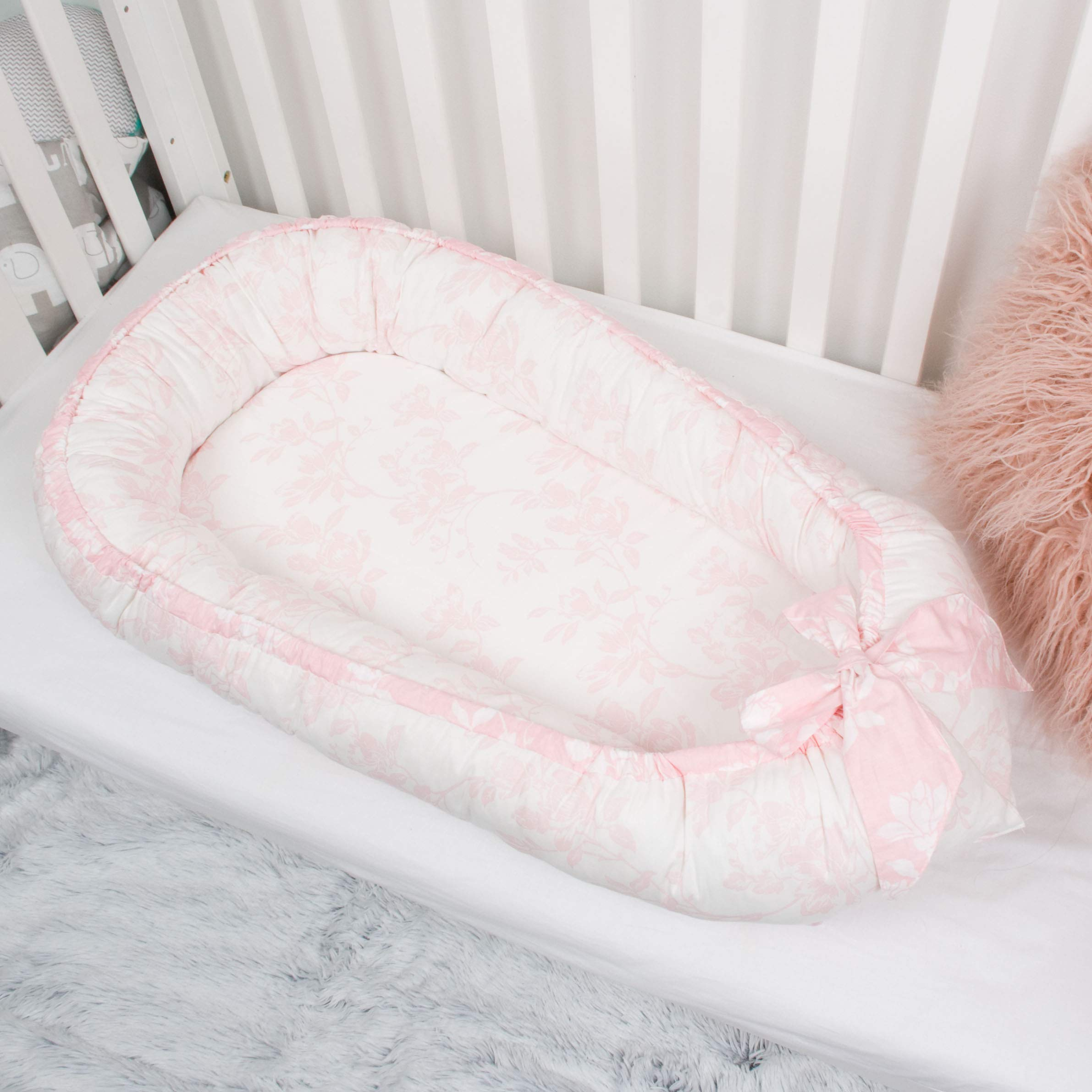 Pink dreams Baby nest bed or toddler size nest portable crib lounger baby bassinet co sleeper babynest babynest bed travel pad pod for newborn